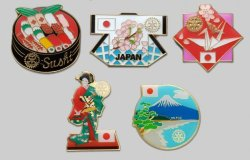 Photo1: Japanese Pins (5 pieces)