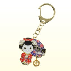 Photo1: Key Holder (Japanese Doll)