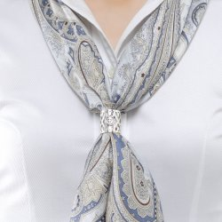 Photo2: Scarf Ring / Silver Color