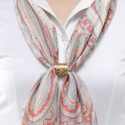 Photo2: Scarf Ring / Gold Color